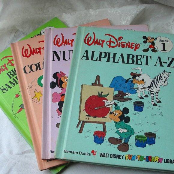 6 for $6..Disney Vintage Preschool Learning Books